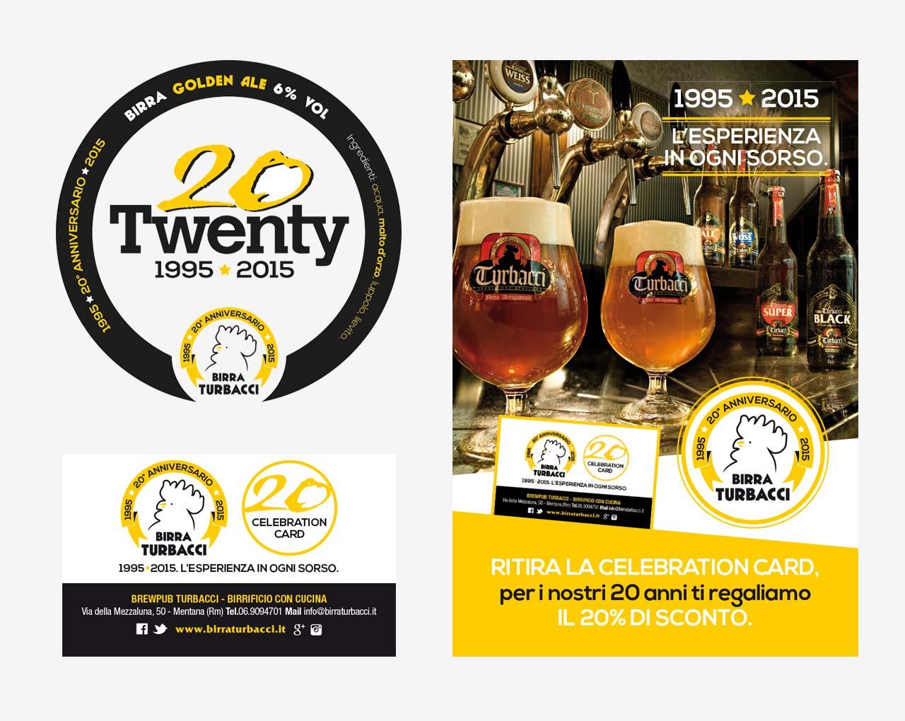 Birra Turbacci Logo 20° Anniversario